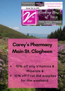 Carey's Pharmacy Festival Offer