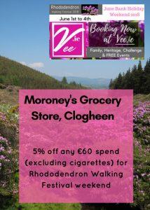Moroney's Festival Offer